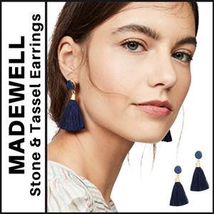 Madewell Stone & Tassel Earrings
